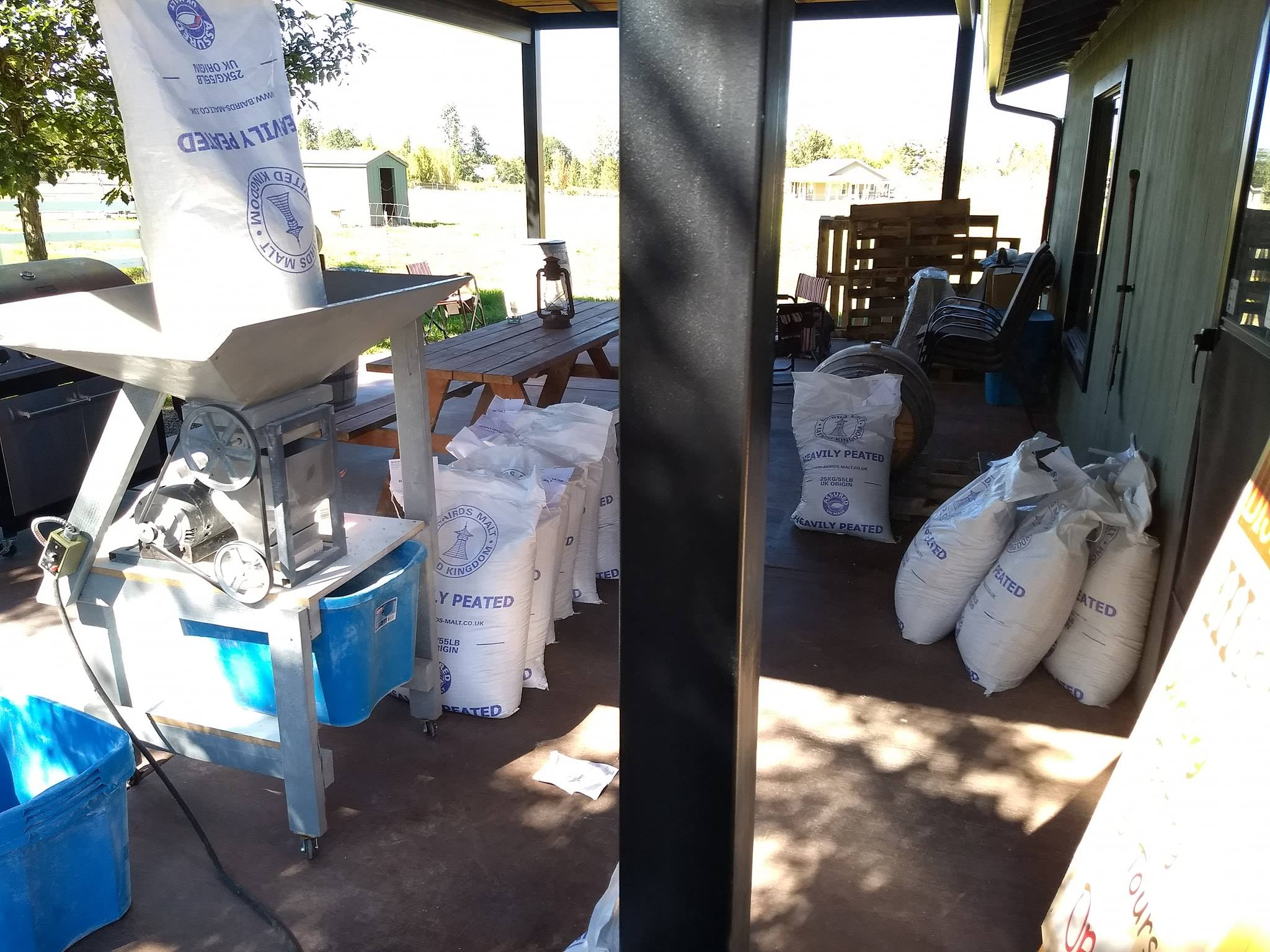 Milling some peated malt